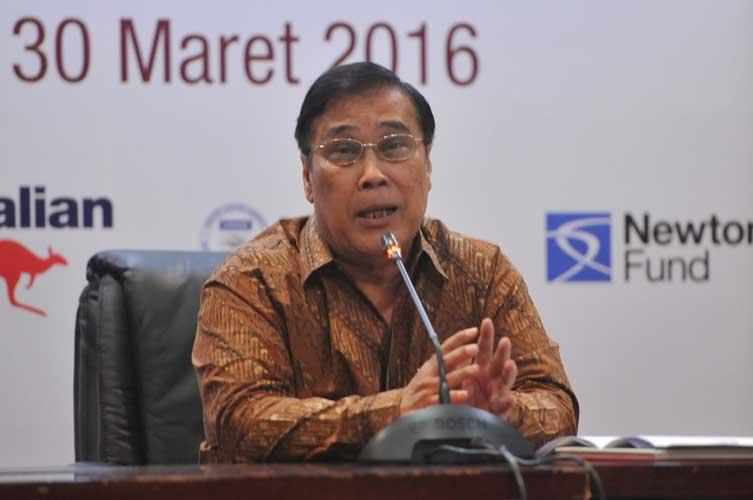 Ketua AIPI, Sangkot Marzuki, memberikan sambutan saat peluncuran DIPI