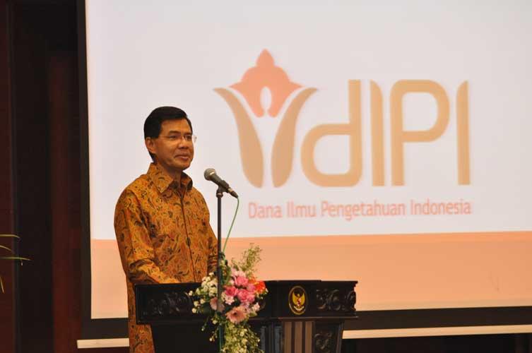 Direktur Eksekutif DIPI, J.W Saputro memberikan sambutan saat peluncuran DIPI